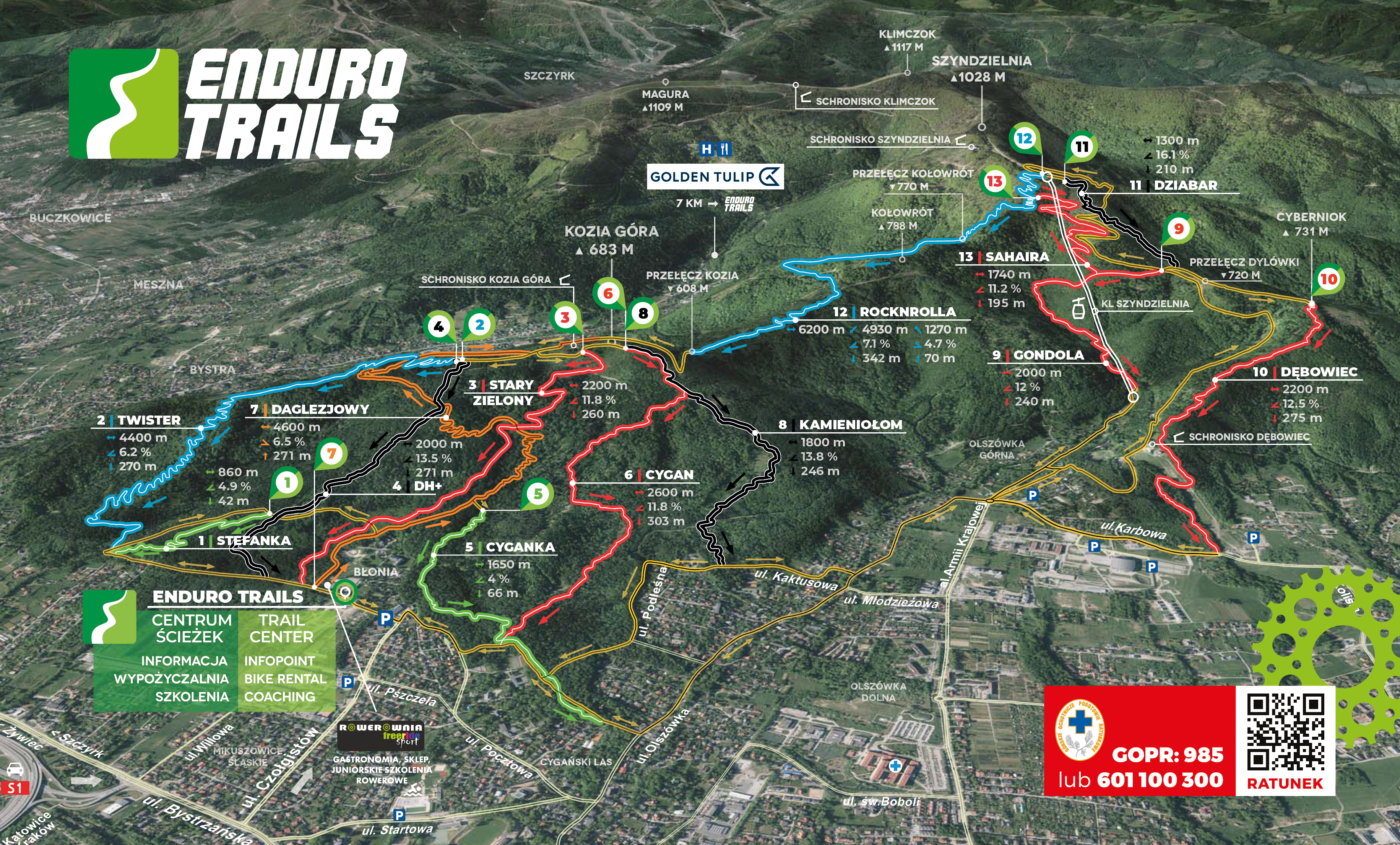 Map of trails – Enduro Trails